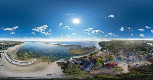 Pemandangan Pantai Geger Nusa Dua