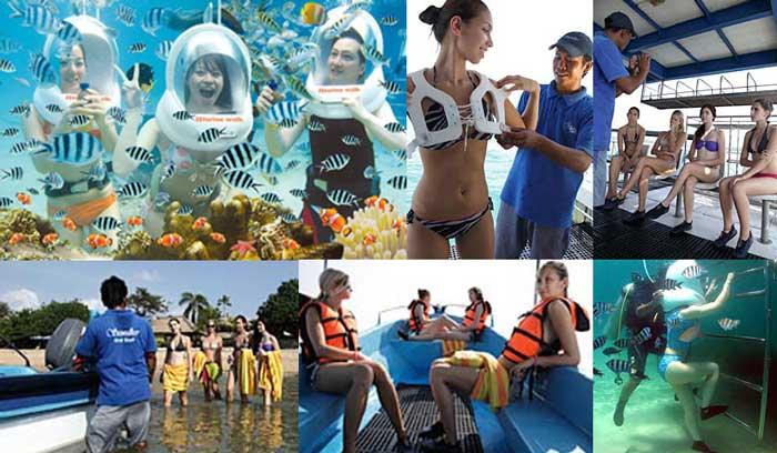 Seawalker Sanur Bali - tempat wisata menarik di bali