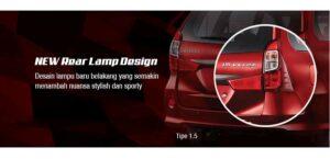Desain Lampu Belakang Toyota Grand New Veloz