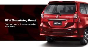 Tampilan Eksterior Belakang Toyota Grand New Veloz