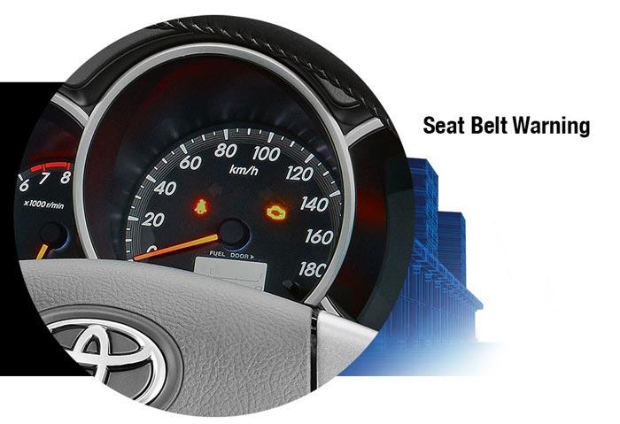 New Rush Seat Belt Warning