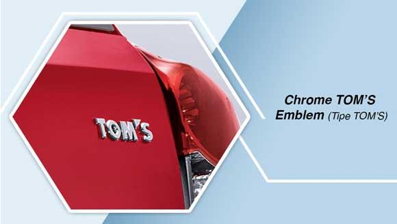 Toyota Etios TOM's Crome Emblem