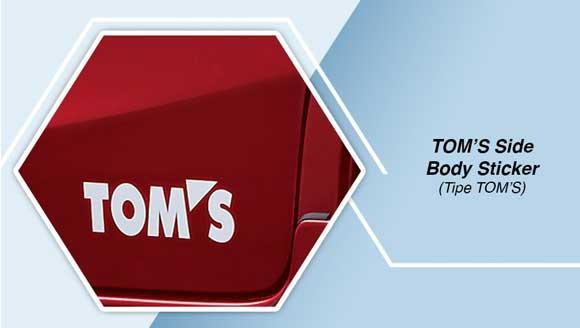 Toyota Etios TOM's Sticker Body Samping