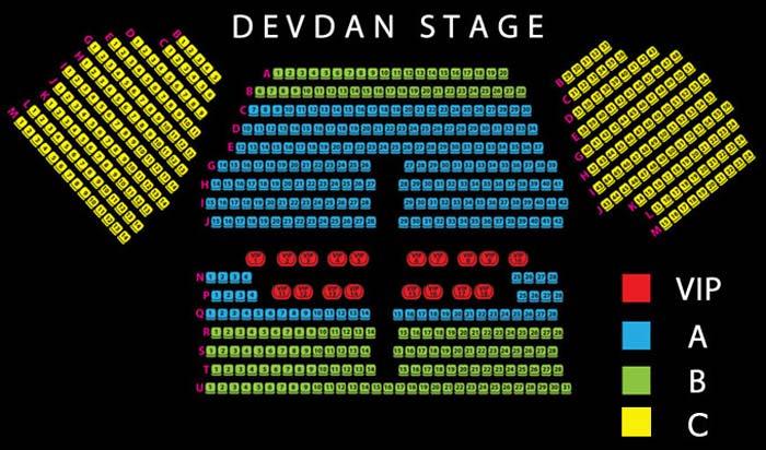 Layout Devdan Show Stage Map