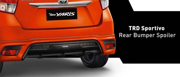 rear bumper spoiler yaris