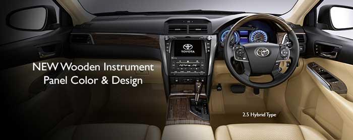 Dashboard Camry Mobil Hybrid Terbaik Indonesia