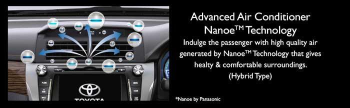 Nanoe Technology Air Conditioner New Camry Hybrid