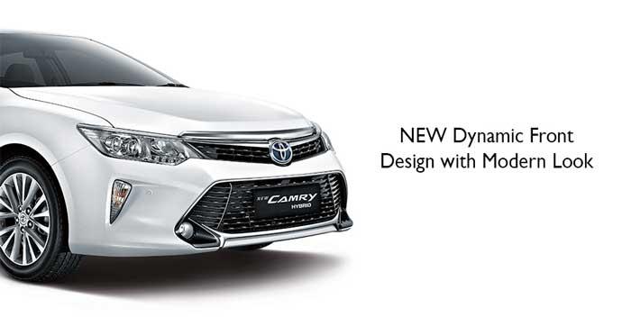Tampilan Depan New Camry Hybrid