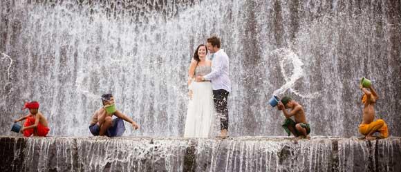 Foto Pre Wedding Di Sungai Unda Klungkung