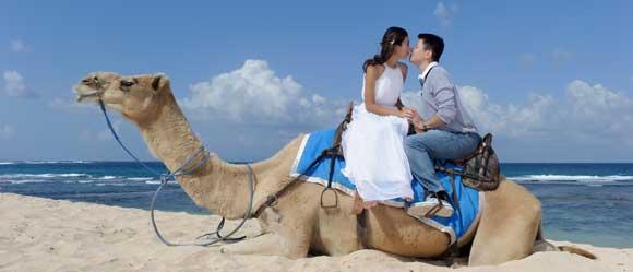 Foto Pre Wedding Naik Unta Di Pantai Sawangan Bali