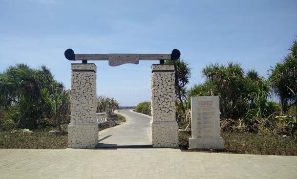 Pintu Gerbang Menuju Tempat Wisata Water Blow