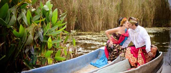 danau bedugul bali pre wedding foto