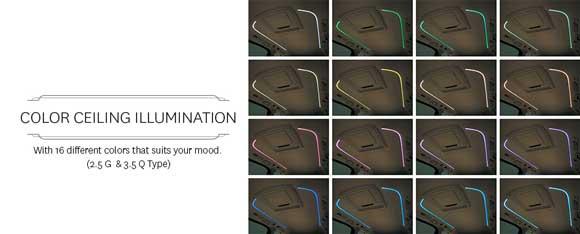 Color Celling Illumination Toyota Alphard