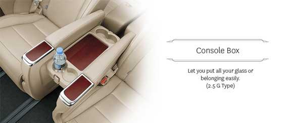 Console Box Toyota Alphard