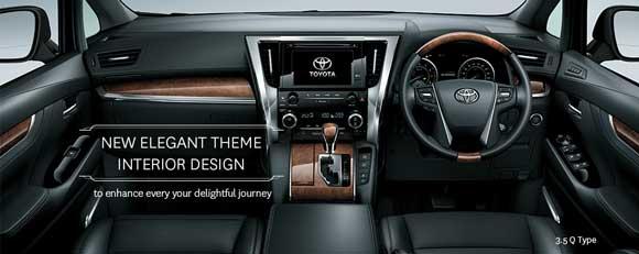 Dashboard Toyota Alphard Tebaru