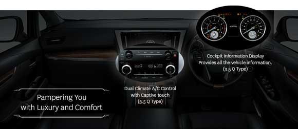 Dual Climate AC Control Toyota Alphard