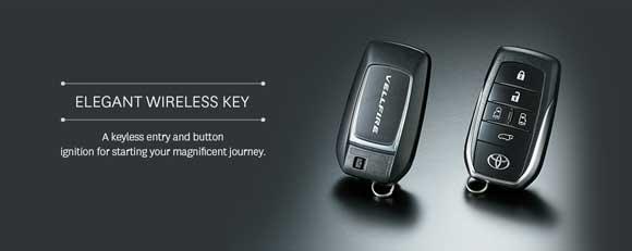 Elegant Wireless Key Toyota Vellfire Indonesia