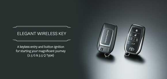 Elegant Wireless Key Toyota Alphard
