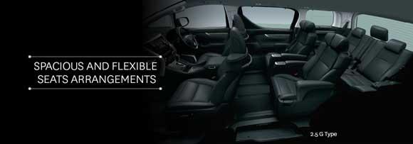 Kursi All New Toyota Vellfire