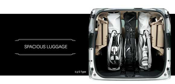 Luggage Storage Toyota Alphard