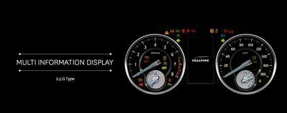 Multi Information Display Toyota Vellfire