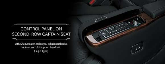 Panel Kontrol Captain Seat Baris Kedua Toyota Alphard