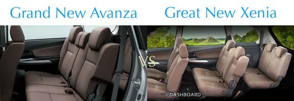 Head Rest & Seat Belt Tengah Kursi Baris Kedua