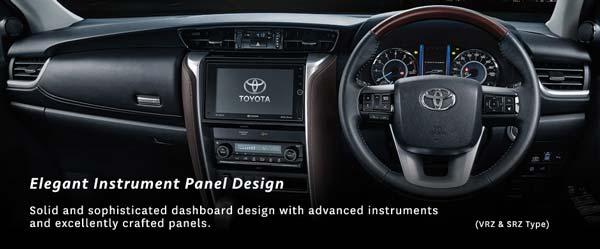 Desain Dashboard Toyota Fortuner Terbaru