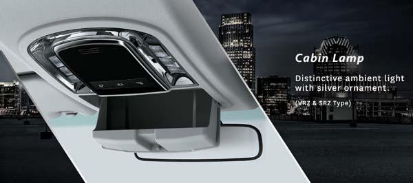 Desain Lampu Kabin Toyota Fortuner Baru.