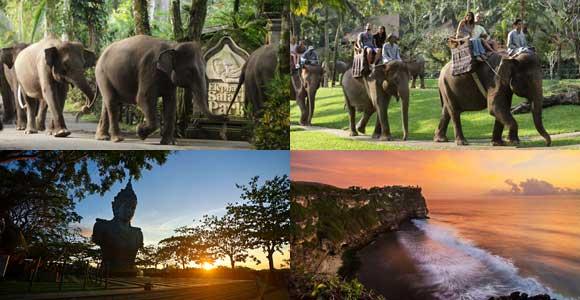 Paket Liburan Naik Gajah Uluwatu Tour Bali