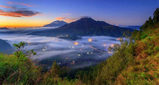 Pemandangan Kabut Desa Pinggan Kintamani
