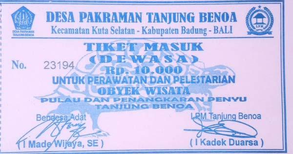 Harga Tiket Masuk Pulau Penyu Tanjung Benoa Bali