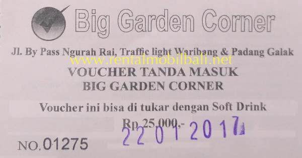 Harga Tiket Masuk Big Garden Corner Sanur