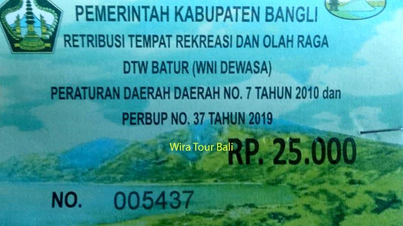 Harga Tiket Masuk Kintamani Bali