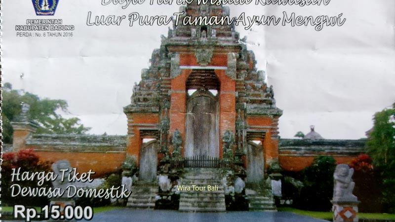 Harga Tiket Masuk Pura Taman Ayun Bali Terbaru