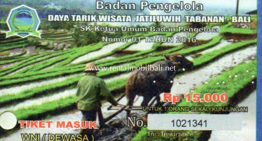 Harga Tiket Masuk Jatiluwih Tabanan