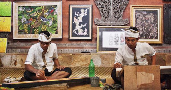 Seni Lukis Khas Bali Desa Batuan Gianyar