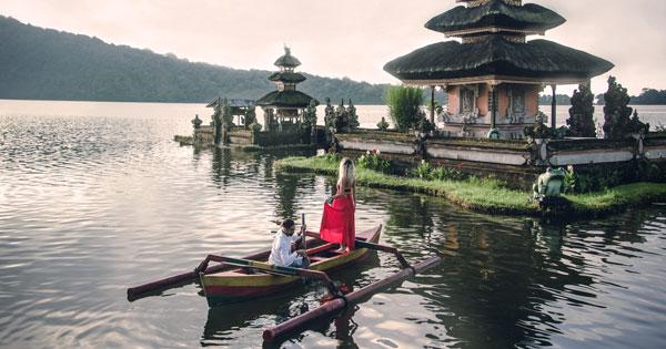 Perahu Tradisional Di Danau Bedugul