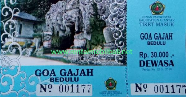 Harga Tiket Masuk Objek Wisata Goa Gajah Bali