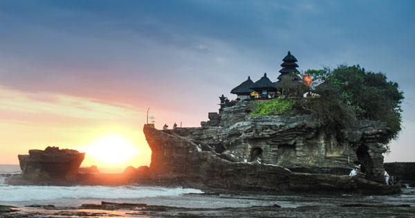 Sunset Di Pura Tanah Lot Tabanan Bali