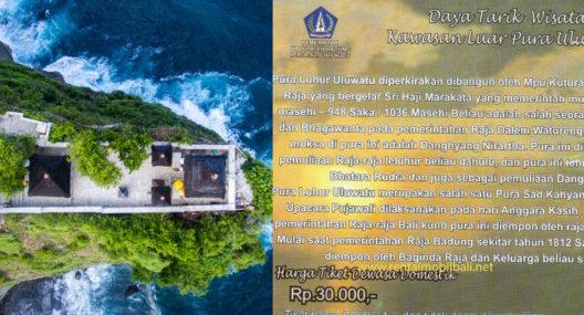 Harga Tiket Masuk Pura Uluwatu Bali
