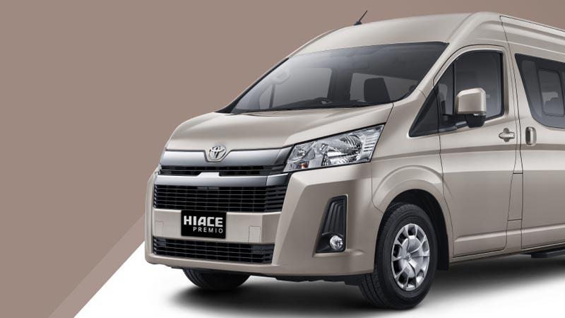 Tampilan Depan All New Toyota Hiace Premio